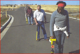 utility locating training class in the field